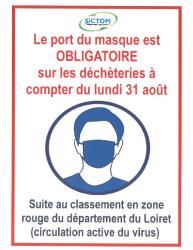 papier déchèterie masques